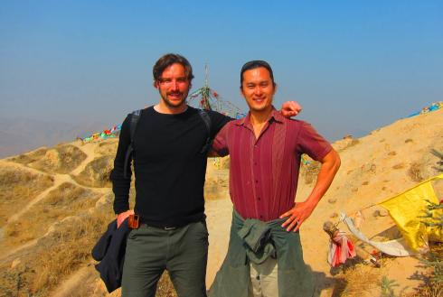 Philip and THRB on top of the West Mountain - XiShan