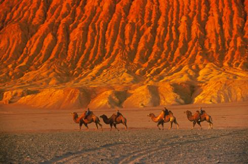Another good picture of the Flaming Mountains - but not my own!