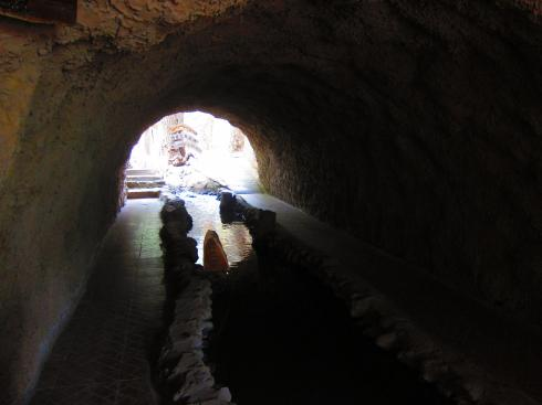 Replica of a Karez underground irrigation channel