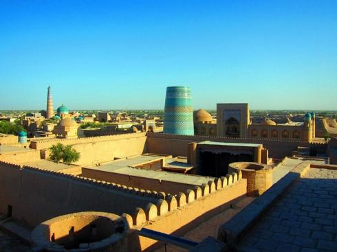Lookout over the old city of Khiva