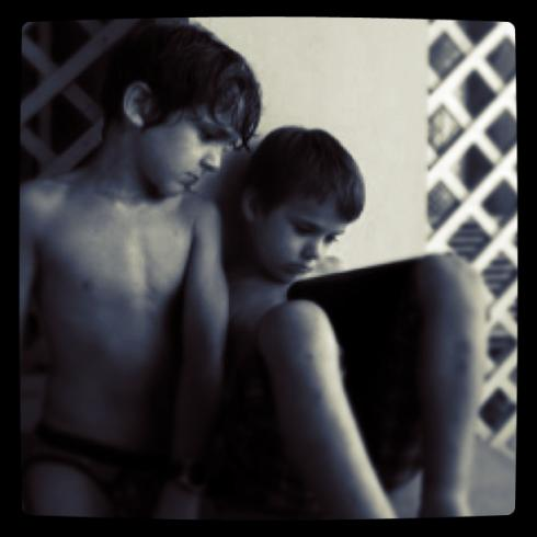 Jaspar & Luka - in the days before the iPad