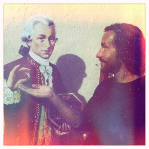 Accepting one of Mozart's chocolate balls