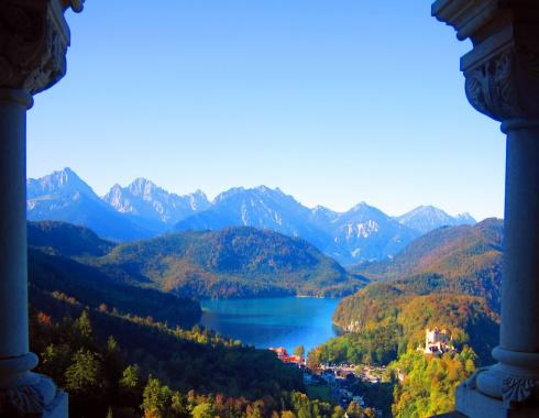 Alpsee from the Schloss Neuschwanstein
