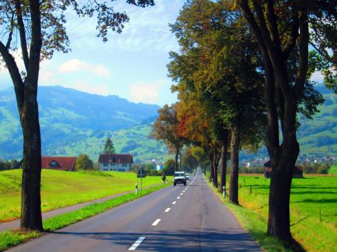 The road to Switzerland